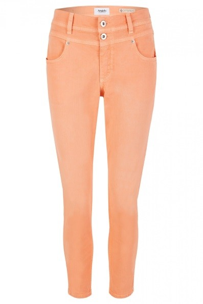Angels Jeans 'Ornella Button' mit unifarbenem Stoff